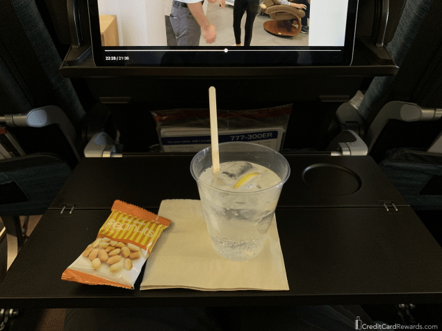 Cathay Pacific Economy Post-Departure Drink Service