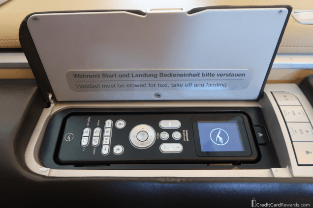 Lufthansa First Class Review IFE controls