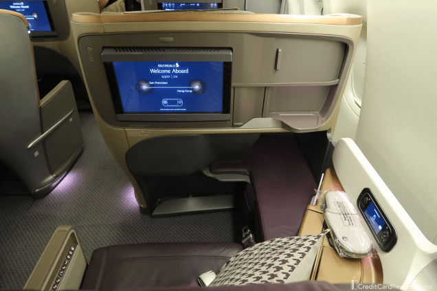 Singapore Airlines Business Class Seatback & IFE Screen