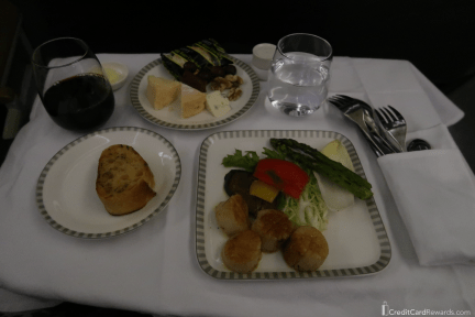 Singapore Airlines Business Class Meal