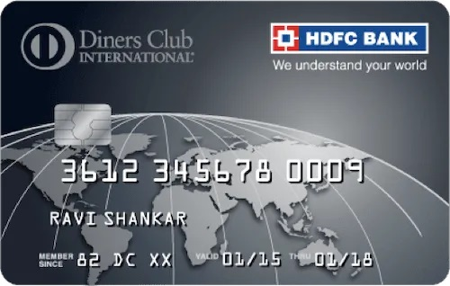 HDFC Diners Black - Super Premium Credit card