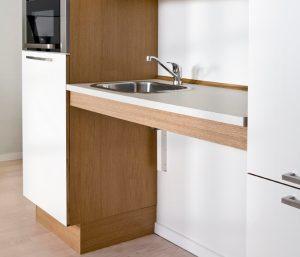 cuisine a hauteur variable meuble bas