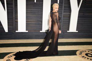 Checkout Rita Ora's Nude Sheer dress to the 2015 Oscar Award