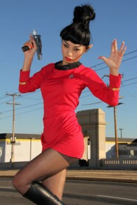 Chinese-American Actress  Bai Ling Strips and pose Nude for Star Trek Halloween