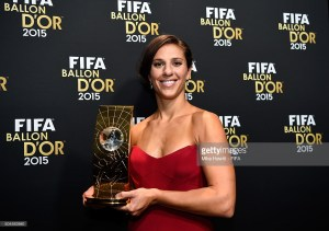 Carli Lloyd wins FIFA Women Player of the Year 2015