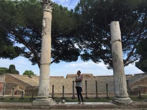 Venus Williams shares Photo of her Visit to the Ancient City of Osita Anita in Rome