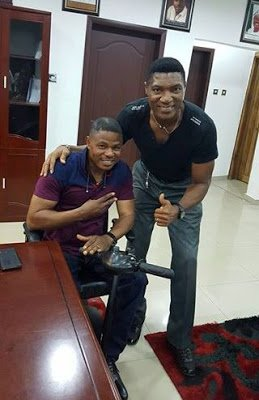 High-life Musician Yinka Ayefele Hang out with Peter Rufai