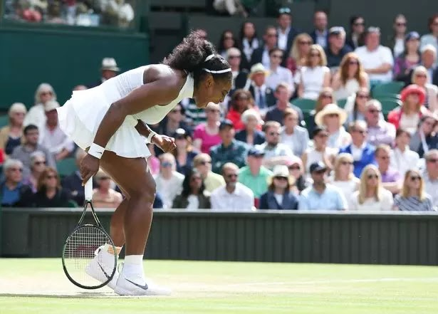 Serena Williams Racy Nipple Showing Nike Wimbledon Dress left  Viewers shocked and distracted