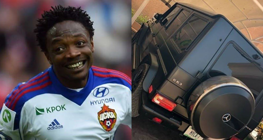 The Mercedes Benz Gwagon which is reported to be a 2015 model, costs $300,000. 25 year old Ahmed Musa is a Nigerian professional footballer who plays as a forward for Russian club CSKA Moscow, on loan from English team Leicester City, and the Nigeria national team.