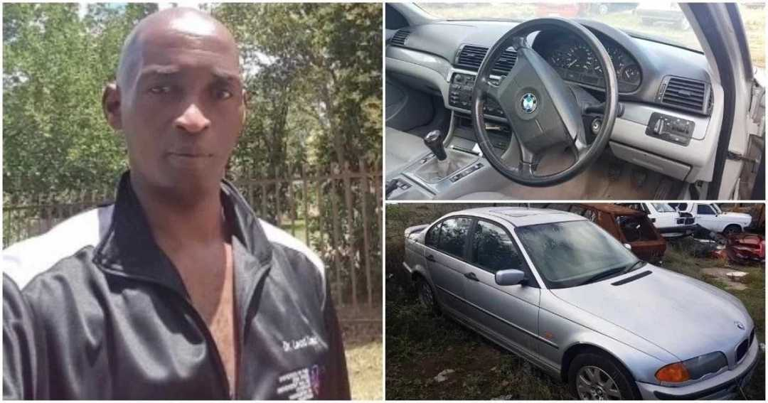 African man gets very emotional after finding his car stolen 19 years ago (photos)