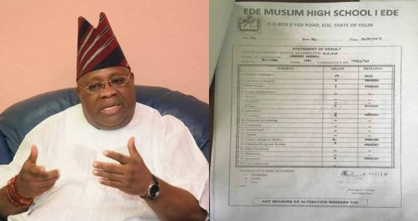 Davido's Uncle, Adeleke had F9 in English at the 1981 exams – WAEC confirms