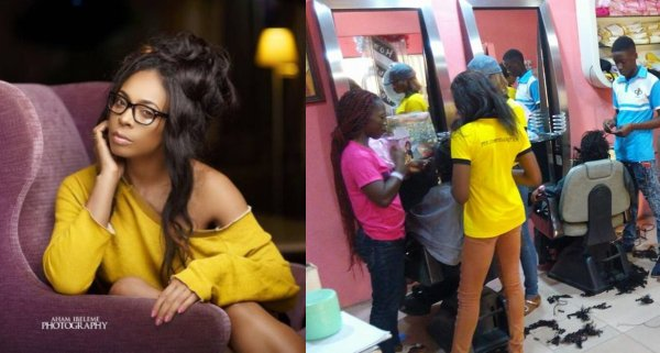 TBoss lashes out at Nigerian hair stylists