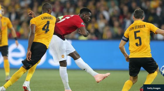 Pogba, Martial Score As Man United Trash Young Boys 3 – 0 (Watch The Goals Highlight)