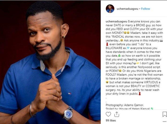 You Can't Date Or Marry A Broke Man - Uche Maduagwu blast Tonto Dikeh again
