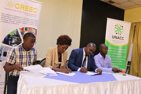 CREEC SIGNS CLEAN COOKING MOU WITH THE UGANDA NATIONAL ALLAINCE FOR CLEAN COOKING (UNACC)