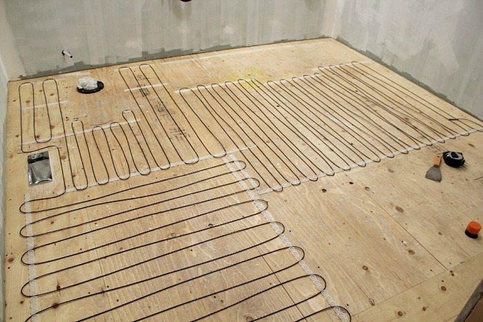 how to install a heated tile floor