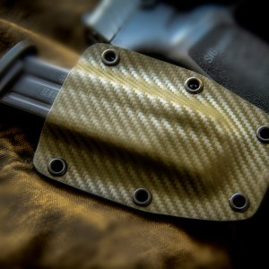 Kydex Single Magazine Holder OD Green Carbon Fiber Sig P320