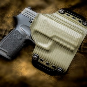 Kydex outside waist band OWB Sig Sauer P320 OD Green Carbon Fiber