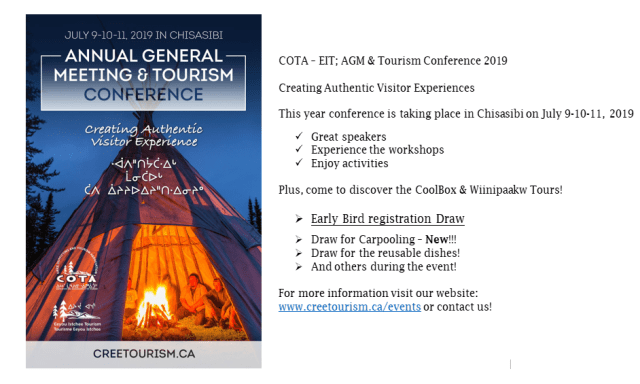 AGM & Tourism Conference 2019 | Cree Outfitting and Tourism