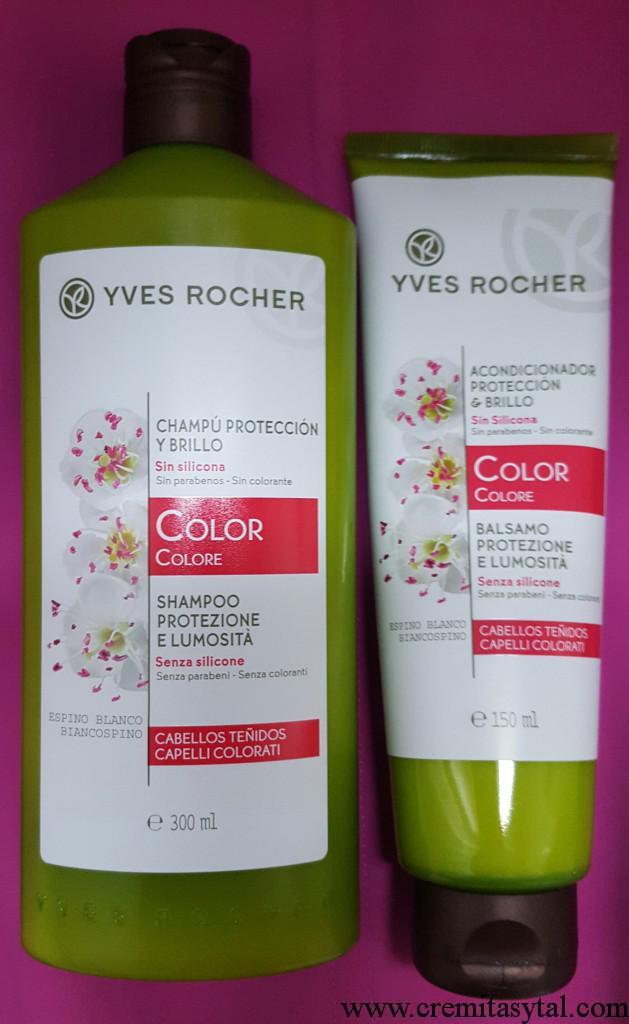 Yves Rocher Champú y Acondicionador Protección y Brillo