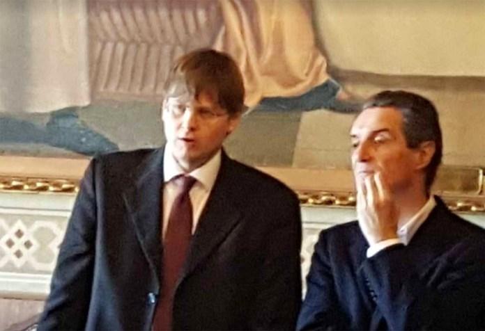 Filippo Bongiovanni, con il presidente della Regione, foto da Facebook