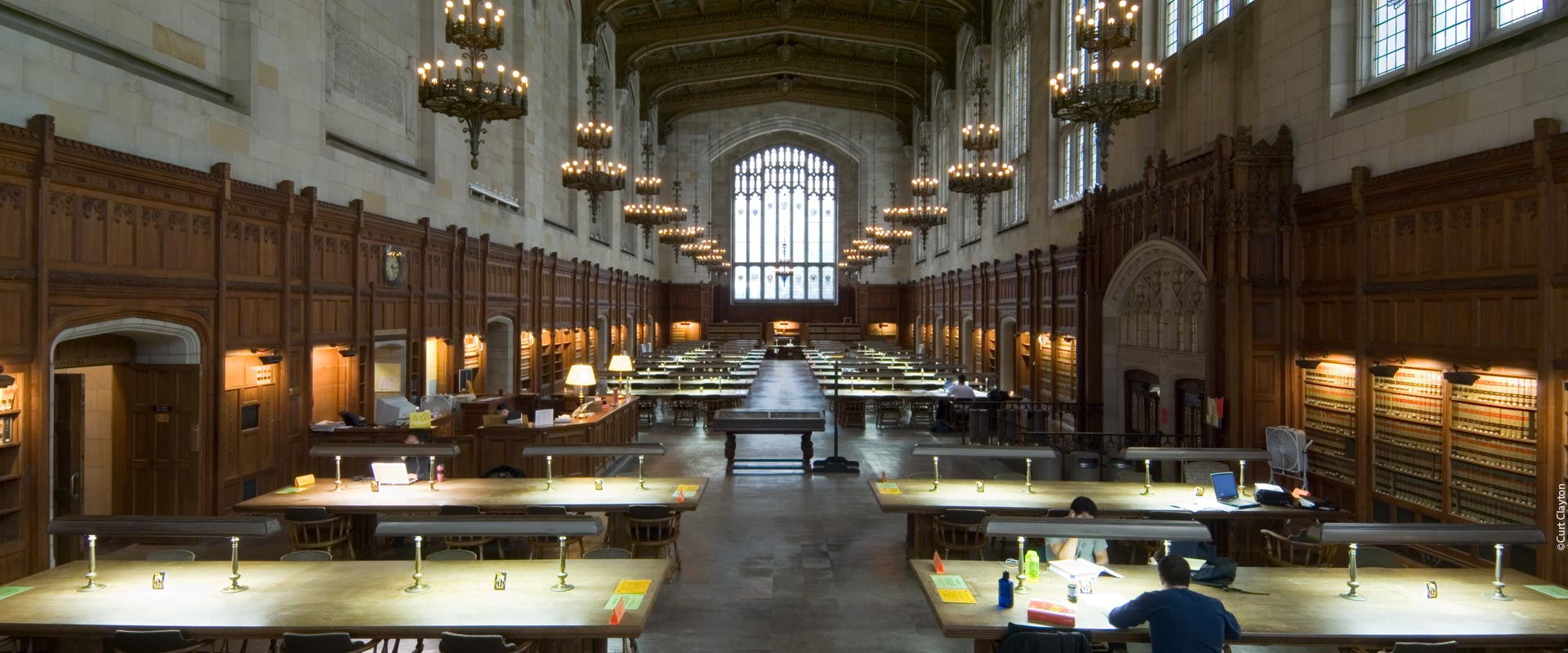 William W Cook Law Library Reading Room Crenshaw Lighting