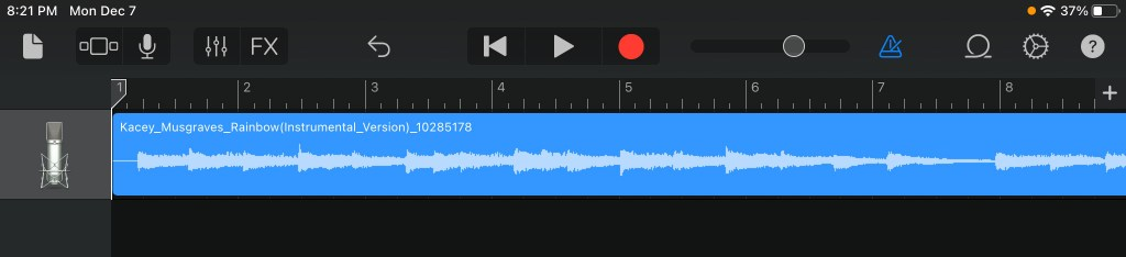 Garage Band - Track in Track View