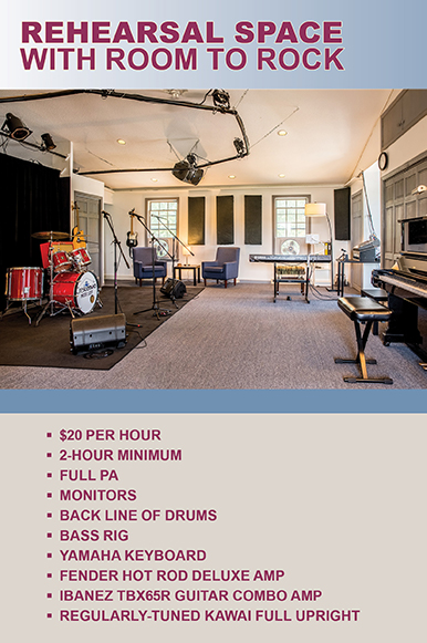 Book Yourself in the Rehearsal Room at Crescendo Music Loft