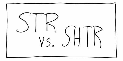 Str vs. Shtr