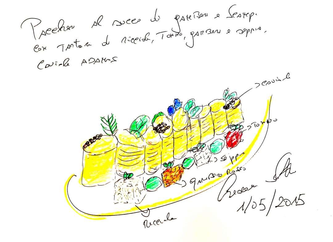 PACCHERI AL SUCCO DI SCAMPI E GAMB (1)