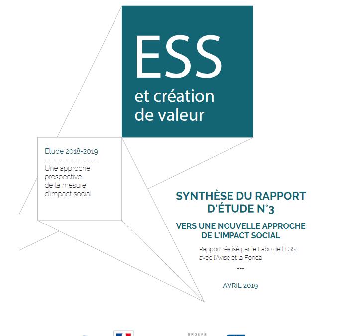 Etudes «ESS et création de valeur»