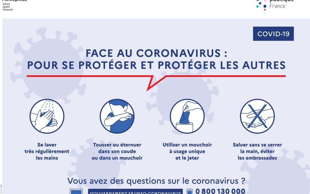 COVID 19 – liens utiles pour faire face à l'épidémie