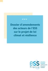 Téléchargez le dossier d'amendements d'ESS France sur la loi Climat & résilience