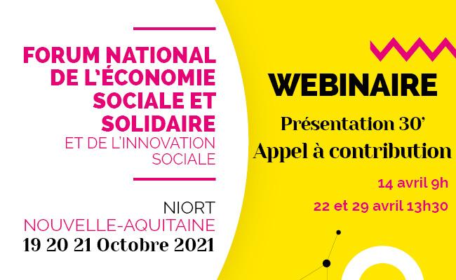 WEBINAIRE 30′ : Appel à contribution Forum ESS-IS