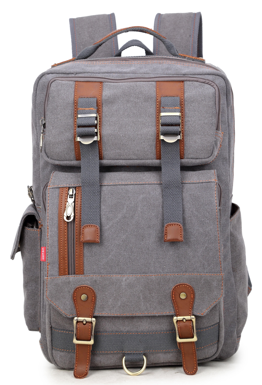 3dc6e675f993 Vintage Canvas Backpack Rucksack in Grey