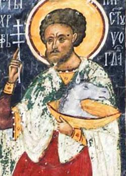 Sfantul Mucenic Hristofor - fresca din Manastirea Sucevita