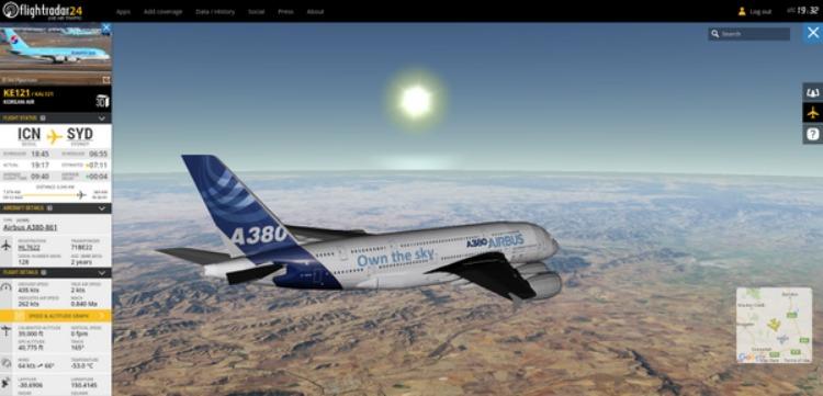 flightradar24-in-3d