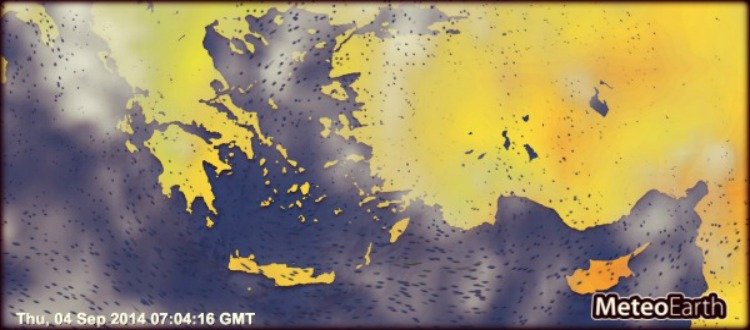 Διαδραστικός 3D χάρτης για τον καιρό