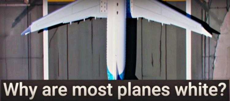 Και γιατί τα αεροπλάνα είναι λευκά