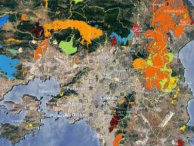 Οι καμένες εκτάσεις πανελλαδικά από το 1984