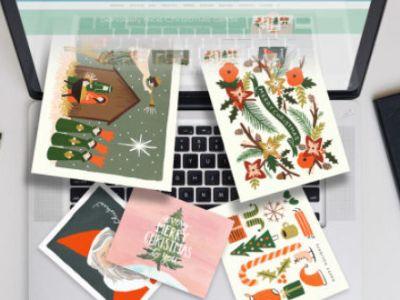 Online χριστουγεννιάτικες κάρτες στο λεπτό