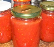 Σάλτσα ντομάτας (διατήρηση σε βάζα)