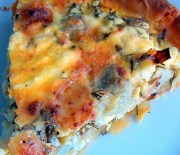 Τάρτα αγκινάρας με κρητικά τυριά