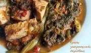 Γιαχνιστά χόρτα με καπνιστό κρέας (απάκι, καπνιστή μπριζόλα ή σύγλινα)