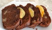 Κέικ με αχλάδια και σοκολάτα