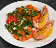 Σαλάτα με πολύχρωμες ψητές πιπεριές