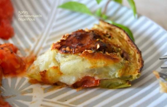μελιτζάνες τυρί ντομάτα βασιλικός μενού 42 κολάζ συνταγές cretangastronomy.gr
