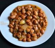 Ξερά φασόλια χάντρες (μπαρμπούνια), πλακί κατσαρόλας