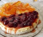 Cheesecake φούρνου με γλυκιά μυζήθρα (νωπό ανθότυρο) και γιαούρτι