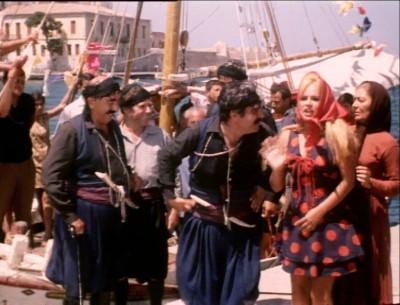 Σκηνή από την ταινία στο παλιό λιμάνι των Χανίων
